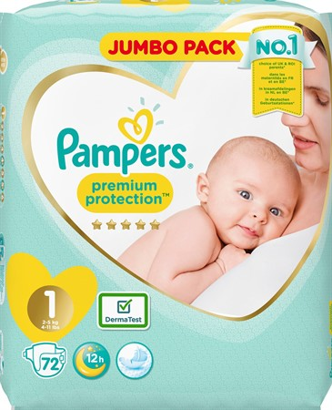Pampers New Baby S1 2-5Kg 2x72-p JP