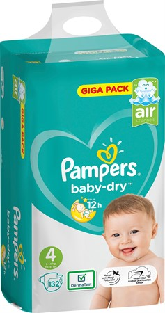 Pampers Baby Dry S4 9-14Kg 1x132-p GBg