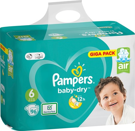 Pampers Baby Dry S6 13-18Kg 1x96-p GBg