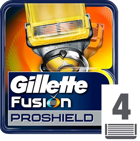 Gillette Blades Male Proshield Manual Yellow 10x4-p