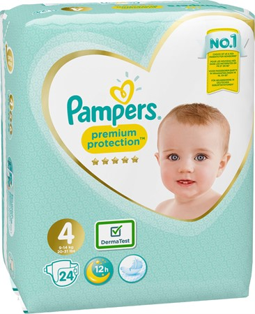 Pampers Premium Protection S4 9-14kg 4x24-p CP